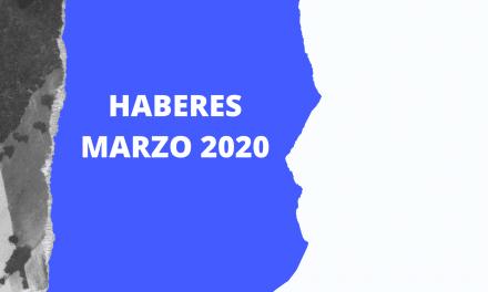 LIQUIDACIÓN DE HABERES MARZO 2020/PARITARIA 2019