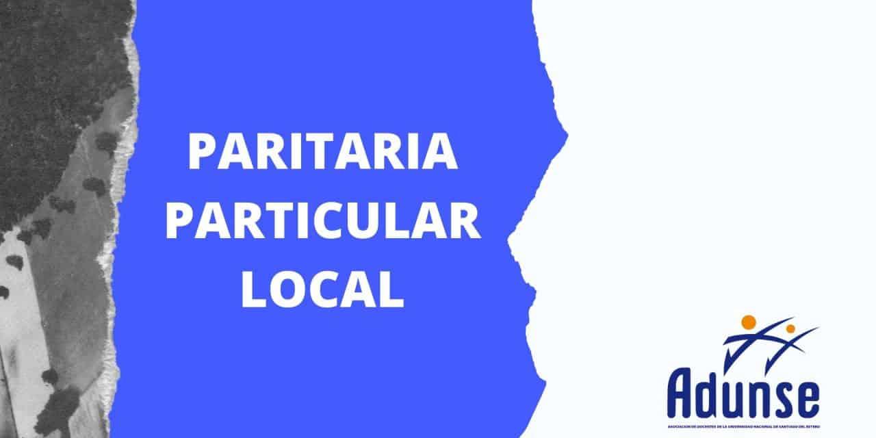 Paritaria Local Particular