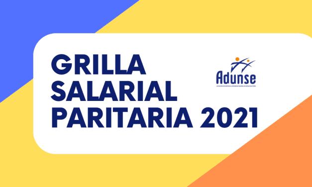 GRILLA SALARIAL PARITARIA 2021